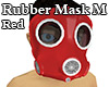 Rubber Mask M Red