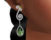 Silver Olivine Earrings