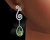 Silver Olivine Earrings