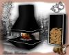 Fireplace black metal