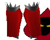 Red Metallic Shin Guards