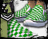 flats green and white