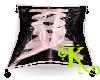 Black/Pink Corset Pillow