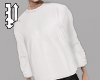 White Rolled Crewneck