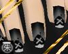 }T{ Black Emo Nails