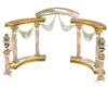 Gold Ivory Wedding Arch