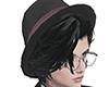 Hair + Hat Black