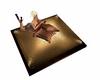 Golden group pillow