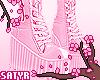 Lace Platforms Pink