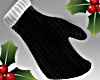 Xmas Black Santa Mittens