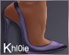 K kloe purple heels