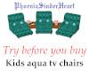 Kids aqua tv chairs