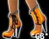 Orange N Blck Stiletto's