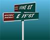 18th n Vine Road Sign