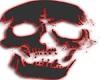 skull black neon