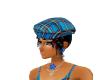 tartan blue hat