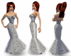 Silver Grey Corset Gown