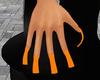 Orange Square Nails