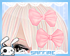 Double Hair Bows Pink