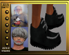 (V)BlackLowCutLoafers