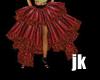 Pvc Goth Baroque Skirt