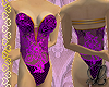 Lace body purple gold
