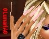 Pink long nails