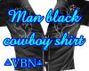man black cowboy shirt
