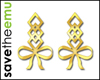 [E] Bow Earrings GOLD