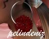 [P] Red fur earrings