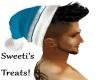 santa hat blue black h