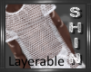 White Net Tee -Layerable
