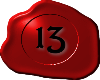 13 Red with Black 13