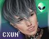 Messy Emo Grey Hair