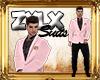 Ferragamo Pink Blk Suit