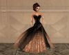 !Copper Black Ball Gown