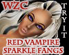 Red Sparkle Vampire Fang