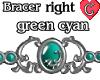 Bracer1 GreenCyan RIGHT