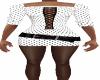 White ST Belt Dress