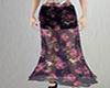 semisheer floral skirt
