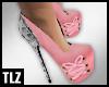 [TLZ]Pnk Snake Bow Heels