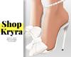 #K.WhiteBow Anklet Heels