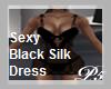 P5* Sexy Black Silk Dres
