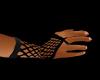 ~C Black Fishnet Gloves