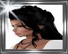 ! long black hair,