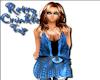 Retro Crinkle Top Blue