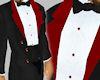 Black velvet tux red