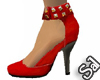 Red Stud AnkleStrap Shoe