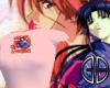 Kenshin and Kaoru Baby T