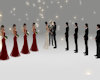 wedding poses altar